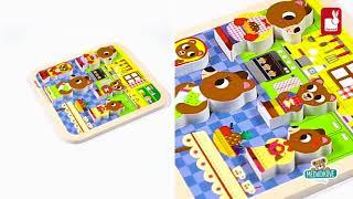 Dřevěné puzzle pro nejmenší Medvědi v kuchyni Chun