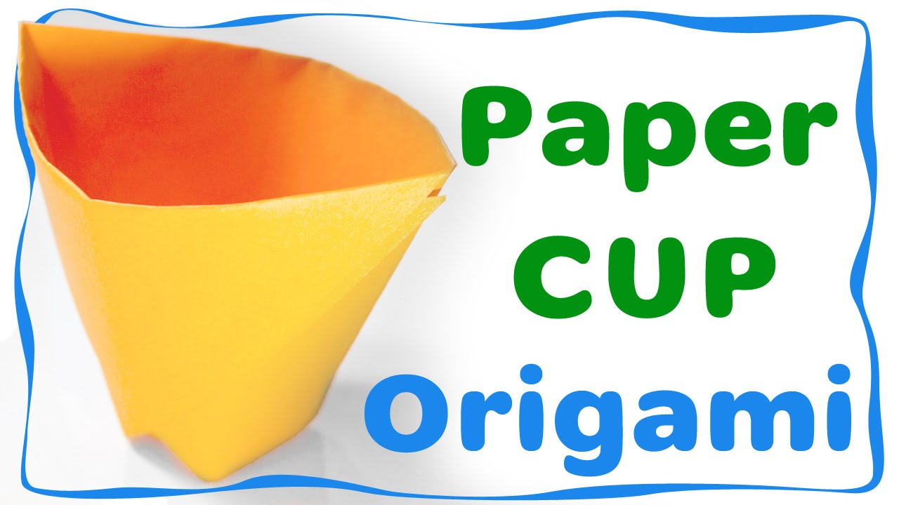 How to make a Paper Cup. Very easy origami for beginners ... - photo#11