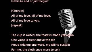 Led Zeppelin All My Love Lyrics