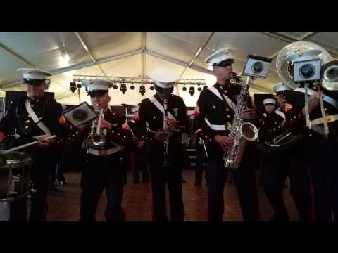 New Orleans Marine Corps Band at HLSR Ram's Club Mar 4,2017 pt1