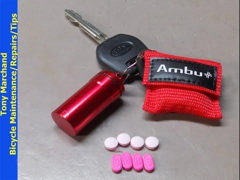 Homemade Key Chain First Aid Kit