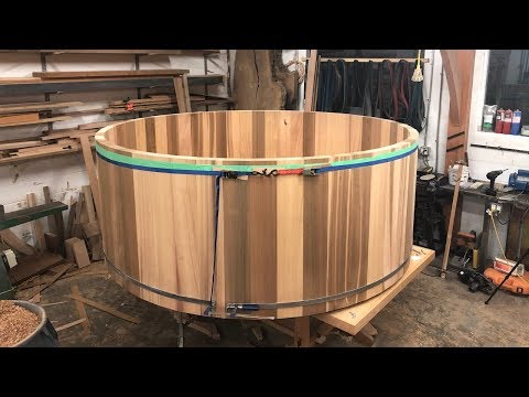 WOODWORKING, MAKING A CEDAR HOT TUB- Part 1!!!