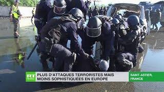 Plus d'attaque terroristes mais moins sophistiquées en Europe thumbnail