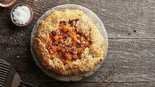 This rich, savory and seasonal galette is healthy and paleo-friendl...