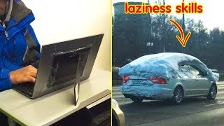 People Who Perfected Their Laziness Skills 「 funny photos 」