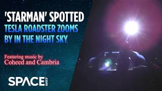 Observatory Sees Tesla Roadster in Space  (feat. Coheed and Cambria Music)
