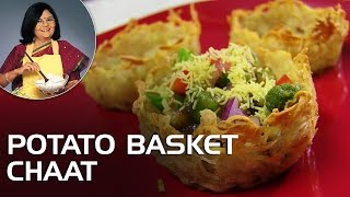 Potato Basket Chaat - Master Chef Tarla Dalal Recipes
