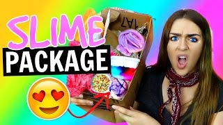 SLIME PACKAGE UNBOXING From Etsy  + Instagram Slime Review!