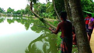 Village Fish Hunter Caught The Big Fish In Village Fishing Festivals