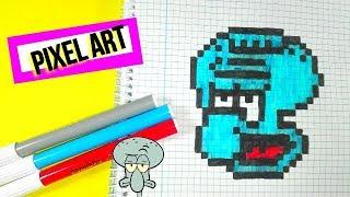 Como dibujar a Calarmardo BOB ESPONJA- PIXEL ART