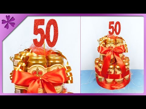 DIY How to make beer can cake, Father's Day gift (ENG Subtitles) - Speed up #492