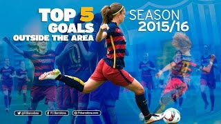 vuclip Barça women best goals 2015/16: Top 5 outside the area