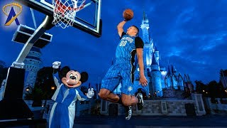 Mickey Mouse plays basketball with Orlando Magic