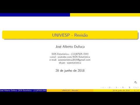 Видео Exame estatística