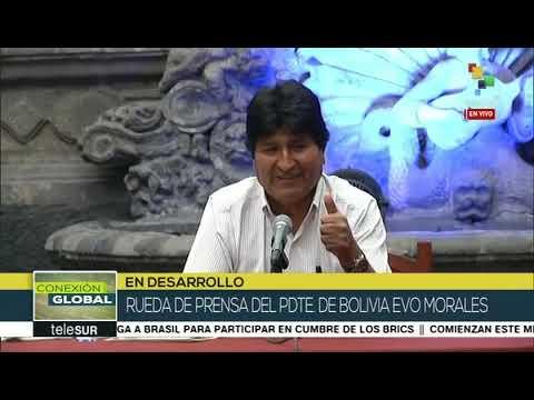 Evo Morales en rueda de prensa desde México, 13 noviembre de 2019