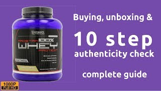Ultimate Nutrition Prostar whey protein - buying, unboxing & 10 step authenticity check guide thumbnail