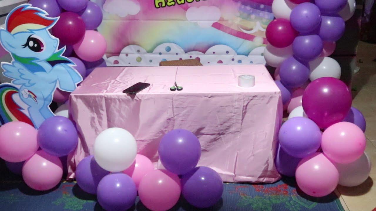 Cara membuat dekor ulang tahun sederhana di tempat yang sempit