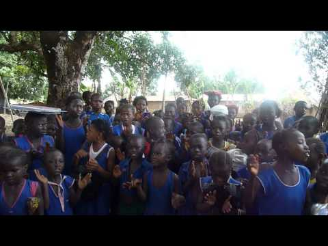 Welcome song in Sierra Leone as part of Steet Child Charity Work
