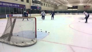Tampa Bay Lightning one-timer practice