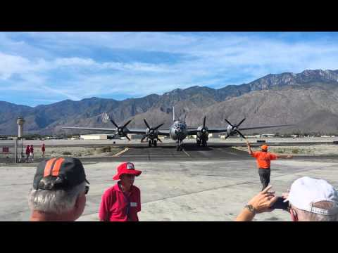"B-29 ""FiFi"" Taxi 3/14/15 Palm Springs"