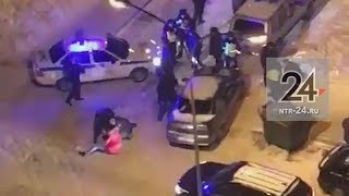 В Нижнекамске очевидцы сняли на видео уличные разборки, разбудившие весь район