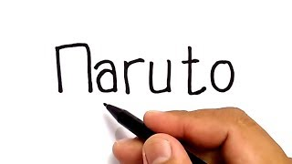 VERY EASY ! How to turn words NARUTO into CARTOON for KIDS / how to draw naruto