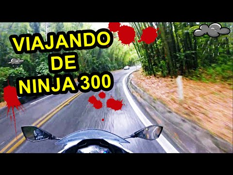 KAWASAKI NINJA 300: VIAJANDO DE NINJA , QUASE 600 KM EM UM DIA!