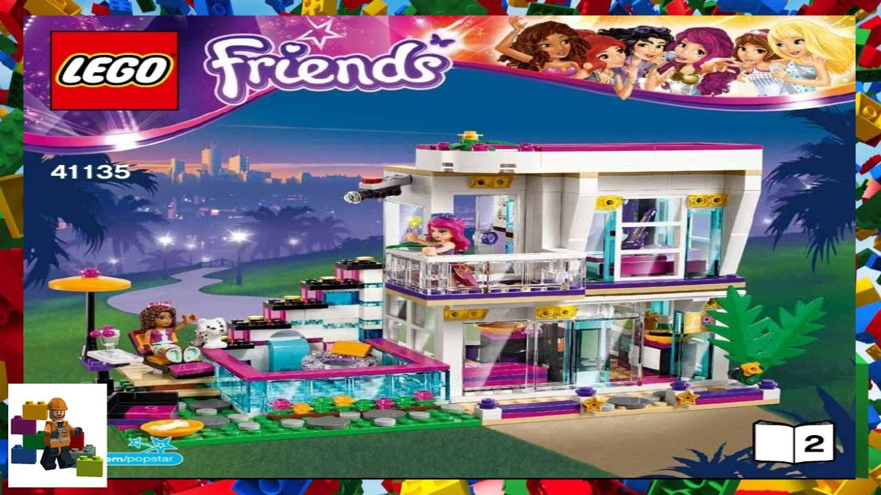 Lego Instructions Lego Friends 41135 Livis Pop Star House Book