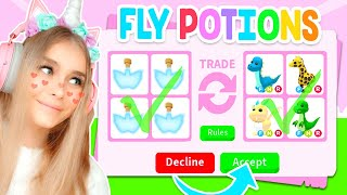 I Was ONLY ALLOWED To TRADE FLY POTIONS In Adopt Me.. (Roblox)