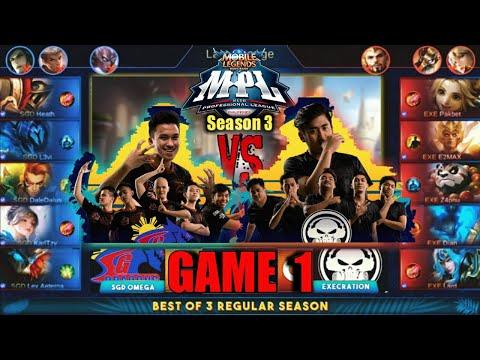 Game1 SGD Omega VS Execration | MPL PH S3 Regular Season