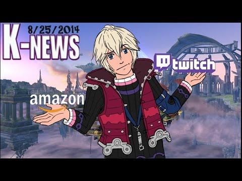 K-News: Shulk in Smash & Amazon Buys Twitch Tv
