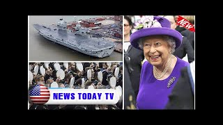 Queen launches hms queen elizabeth - britain's largest navy ship sets off on maiden voyage   News T