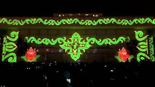 Лазерное 3D-шоу в честь года до старта Зимней универсиады-2019 Красноярск