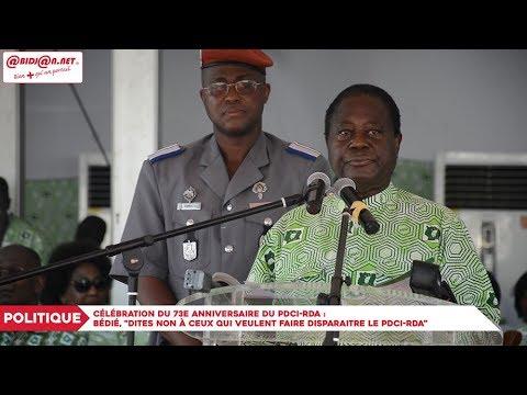 """An 73 du PDCI : Bédié aux militants,""""Dites non à ceux qui veulent faire disparaitre le PDCI-RDA"""""""