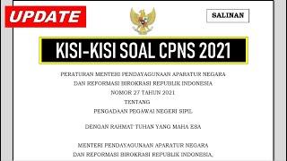 Resmi Kisi Kisi Soal Cpns 2021 Pdf Permenpanrb No 27 Tahun 2021 Youtube