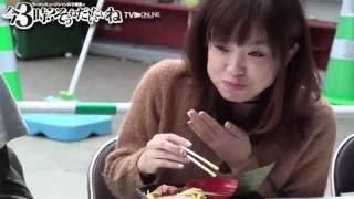 """大つけ麺博会場の大久保公園から生放送!""""らぁドル""""齊藤夢愛ちゃん、し..."""