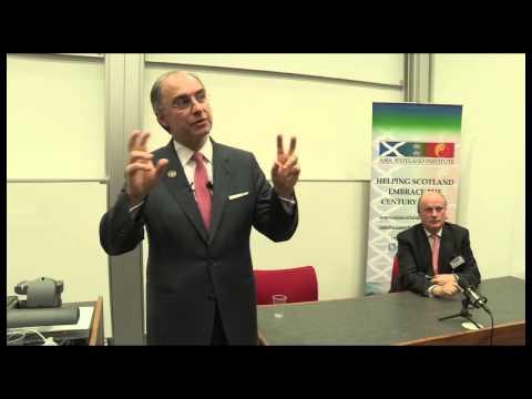 Asia Scotland Institute Xavier Rolet Presentation