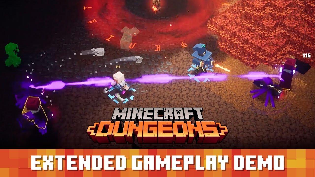 Εκτενές gameplay video από το Minecraft Dungeons