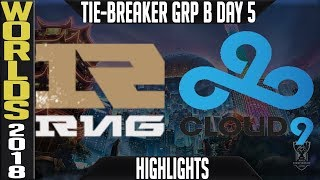 RNG vs C9 Tie-Breaker Highlights | Worlds 2018 Group B Day 5 | Royal Never Give Up vs Cloud9
