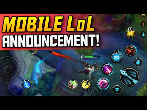 New Lol Mobile Announcements Updates League Of Legends Wild Rift Gameplay Youtube