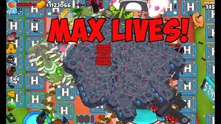 Bloons TD 6 - WHAT'S THE MAX LIVES? CHINNOOK CRAZINESS