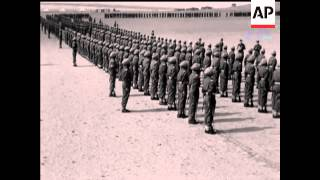 GENERAL AUCHINLECK AND MARCH PAST - NO SOUND