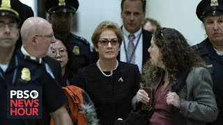In impeachment deposition, Yovanovitch links Trump to her ouster