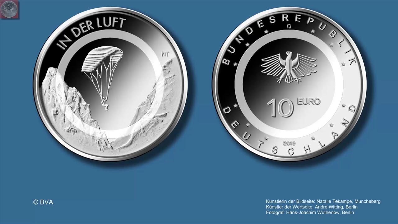 Neue Deutsche 10 Euro Münze Mit Polymerring Ab 2019 Geplant Youtube