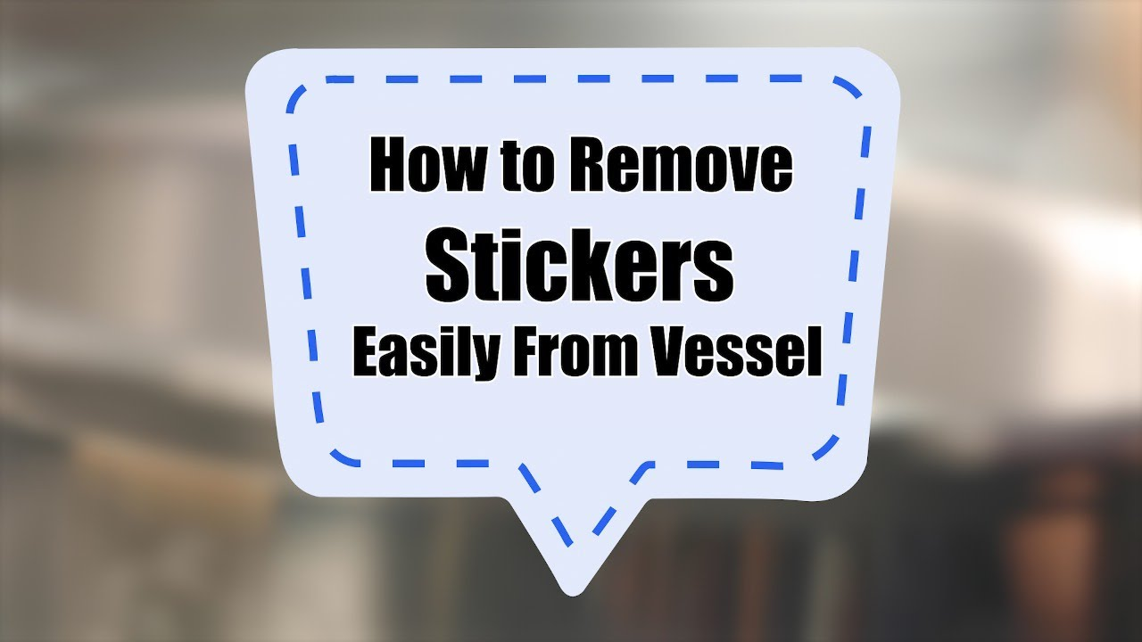 How to remove stickers easily from vessels    Sanjeev Kapoor Khazana