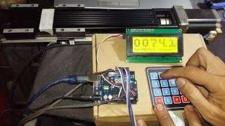 CKD learn - Arduino Big text LCD - Keypad - Accel Stepper & Linear