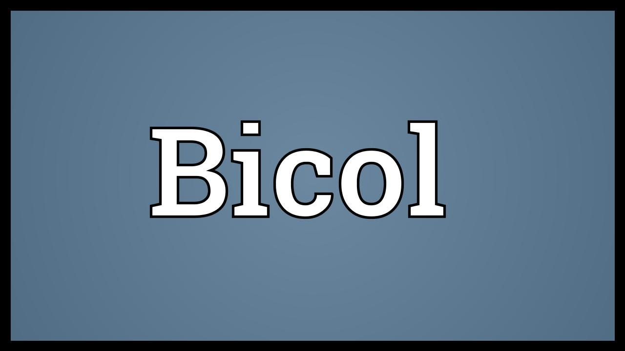 Bicol Meaning