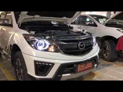 The 2020 Mazda Bt 50 White Color Install Light Model Bmlens Side A