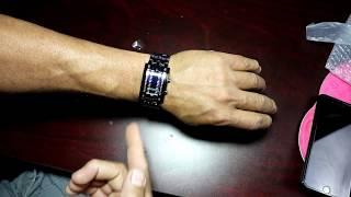Matrix Blue LED Digital Waterproof Mens Watch