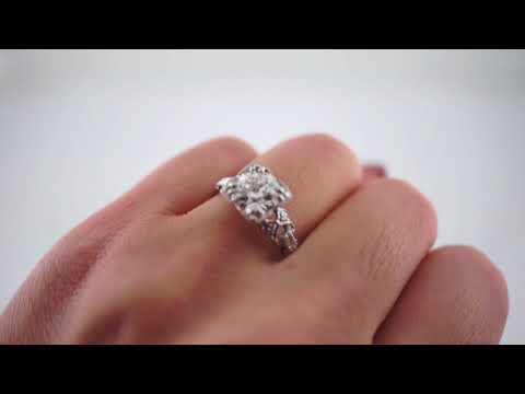 Antique Engagement Ring Art Deco GIA 1 42 Old European Cut Diamond in Platinum